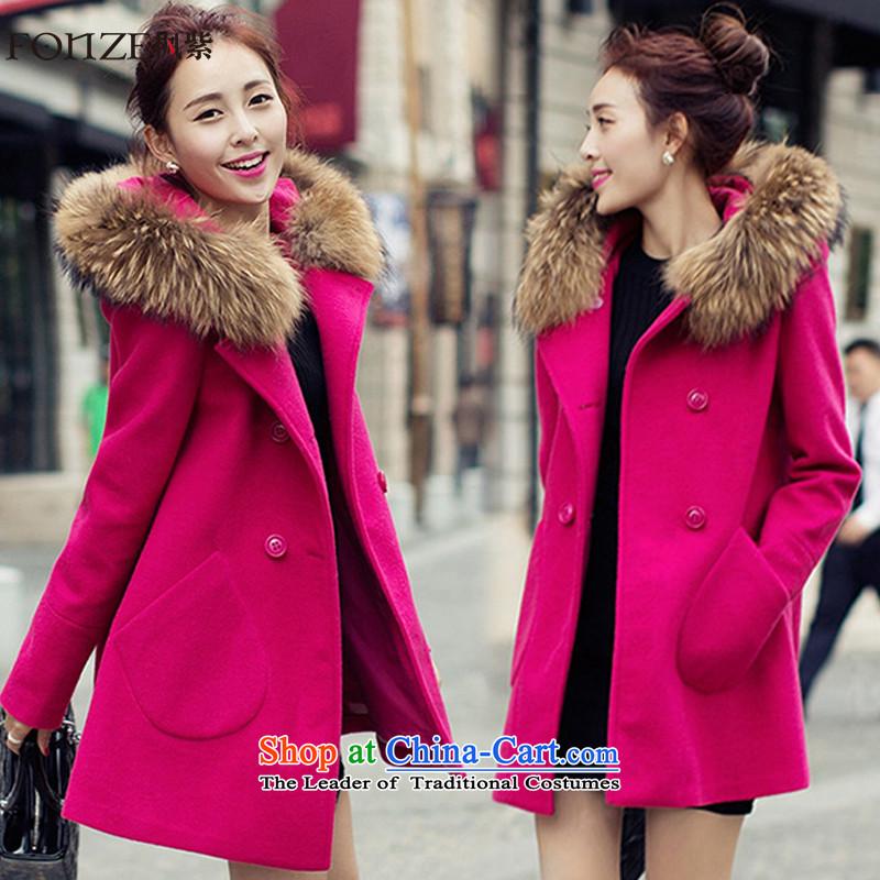 Maple purple women 2015 winter clothing in New Sau San long coats jacket FZ480 gross? The Red燬