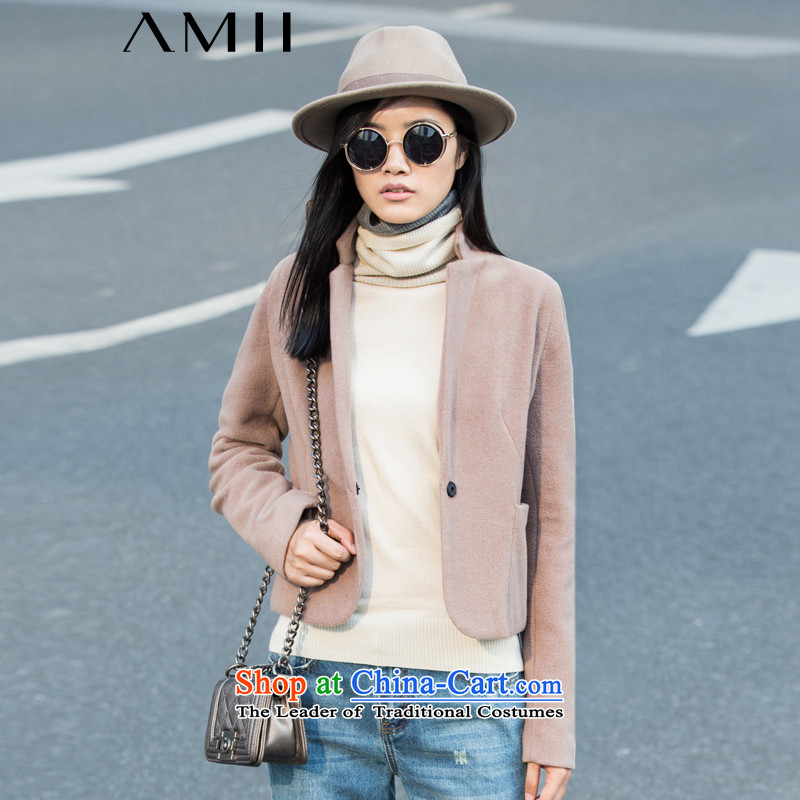 Amii- minimalist -2015 autumn and winter new able one grain of Sau San Gross deduction short? 11581883 and color jacket female XS