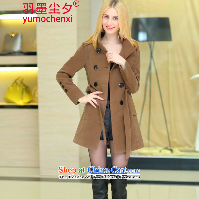 Yu ink dust overnight 2015 Korean winter clothing in large long wool coat female jacket? YMCX8902 female and Color M
