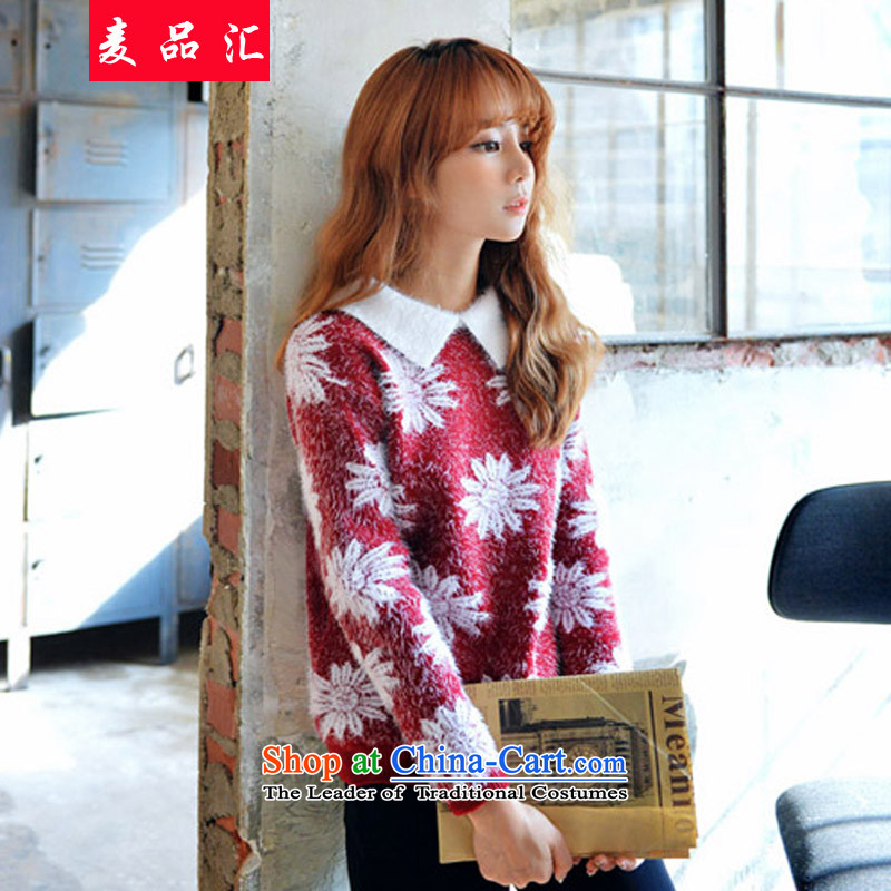 Mak, removals by sinks xl female autumn and winter, thick mm Korean loose sweater 200 catties expertise, forming the sister video thin knitwear 5251 Mini Red 3XL