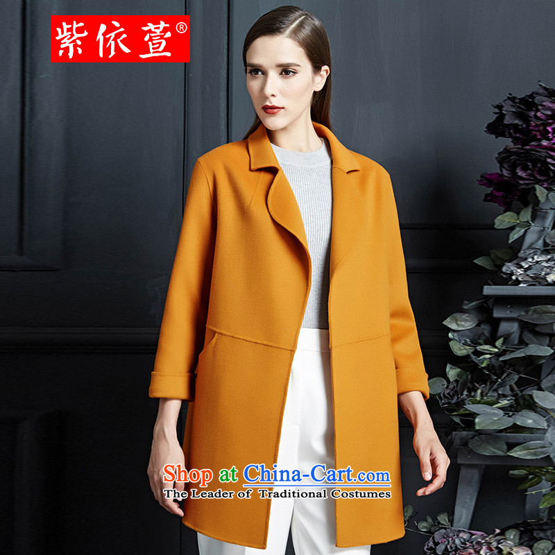 In accordance with the first聽015 autumn and winter Korea Xuan version long warm jacket?聽Kang gross . 98 16 yellow聽L