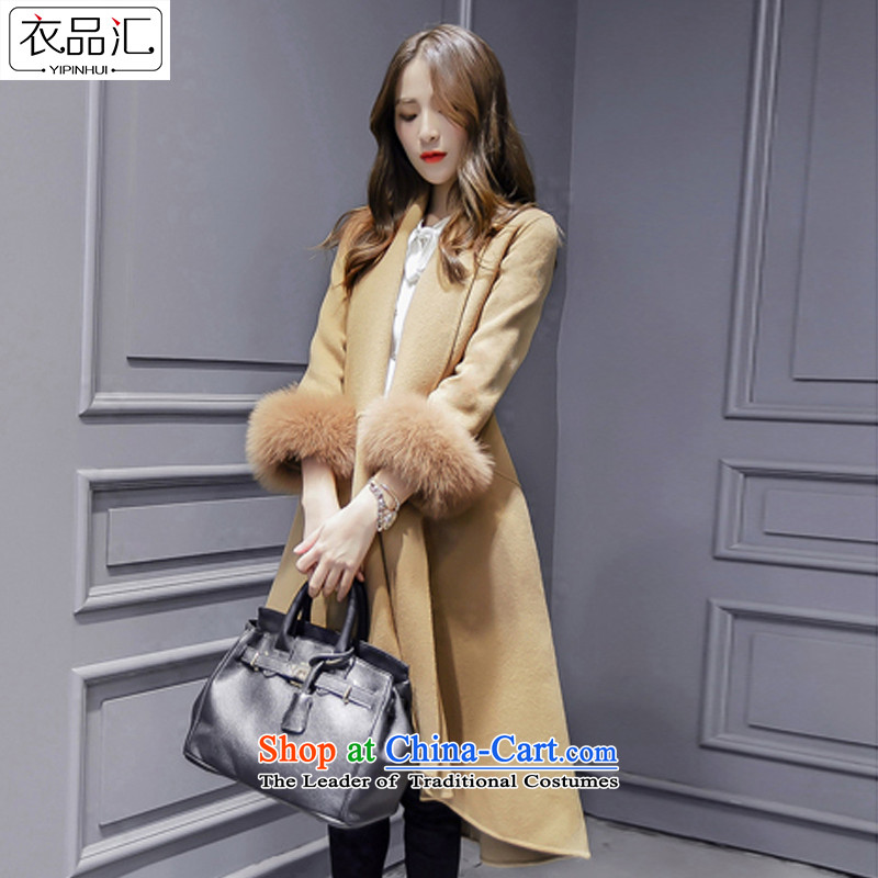 Yi No.2015 Fall/Winter Collections by female new Korean cashmere overcoat Foutune of medium to long term)? sub-jacket coat women gross Sau San? card itsM