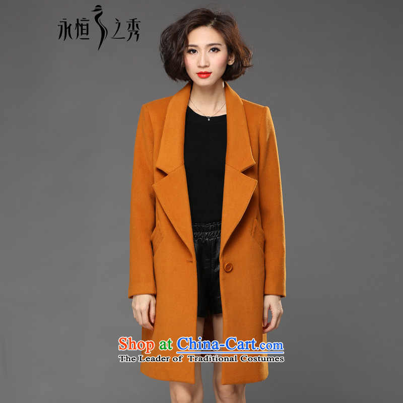 The Eternal Yuexiu code female jacket coat thick mm gross? sister 2015 winter clothing new product version Korea to increase stylish temperament 200 Jin Mao jacket and color�L?