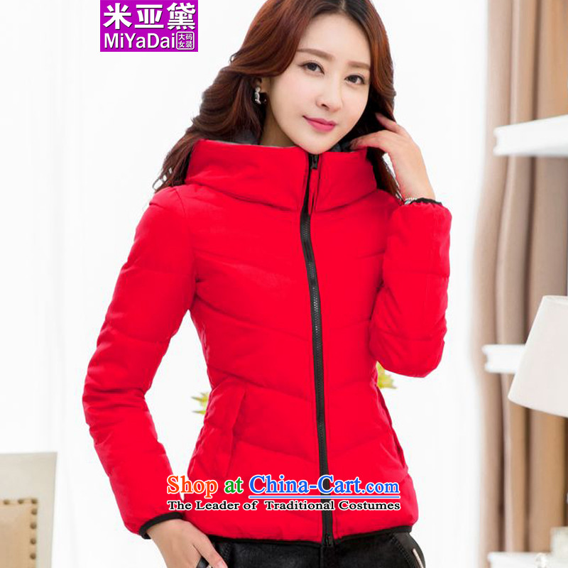 The Doi larger female thick winter coat 2015 mm new graphics to increase expertise thin cotton coat the sister hypertrophy code 200 catties red 5XL ÃÞÒÂ