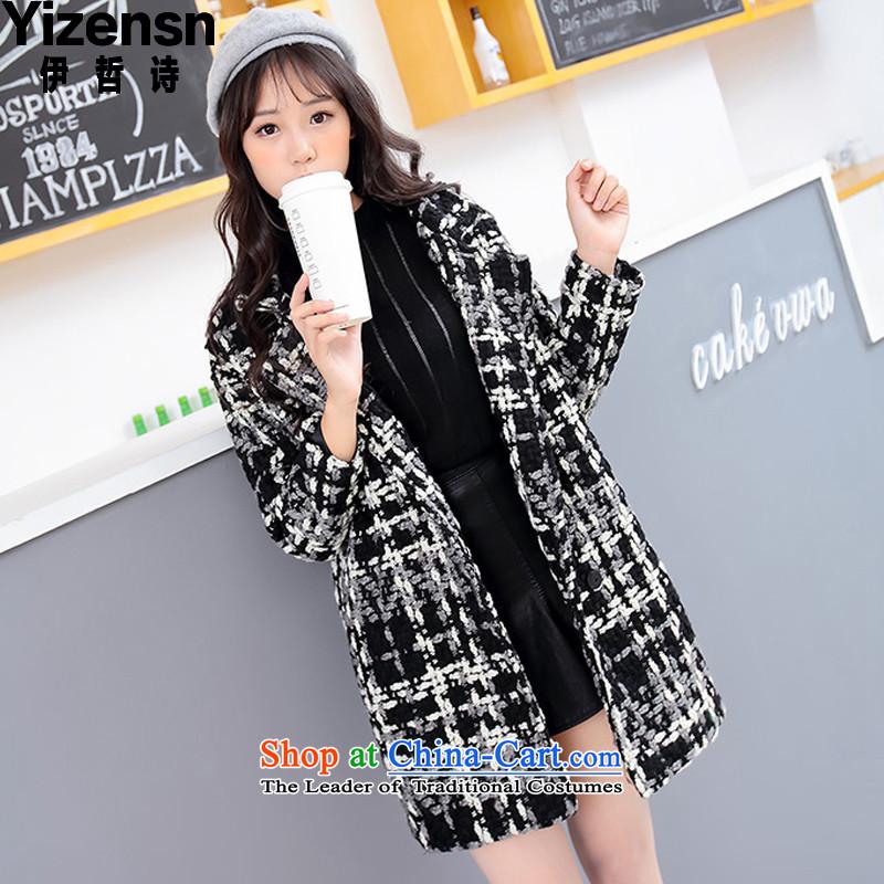 El-chul (yizensn poem) version 2015 Winter Olympics Korea new liberal video thin coat jackety70399 latticedblack  S