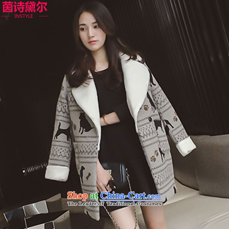 Athena Chu Poetry, 2015 autumn and winter new gross girls jacket? Long Korean version of a wool coat women lapel video thin long-sleeved blouses and 6031 color燣