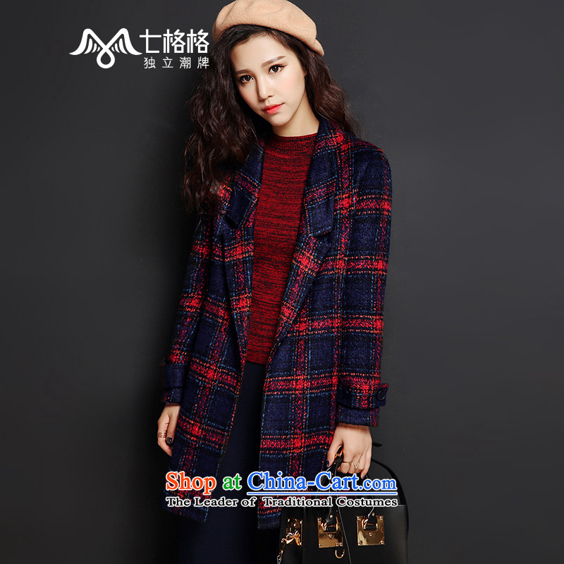 7 Huan 2015 autumn and winter new liberal-long long-sleeved a deduction of red coats燬?