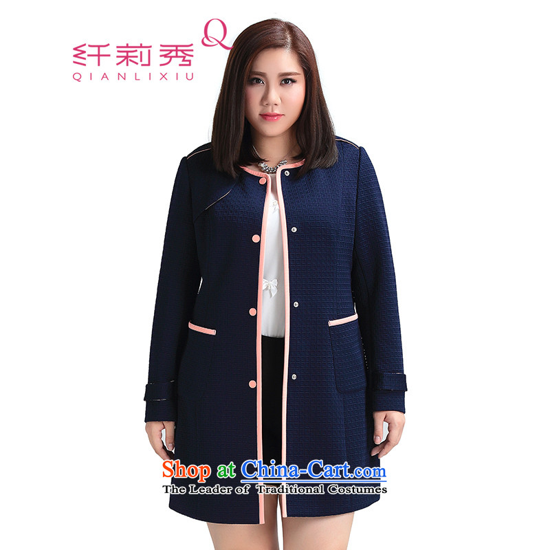 The former Yugoslavia Li Sau 2015 Fall_Winter Collections new larger female knocked pack edge geometry and thick MM wild windbreaker deep blue�L