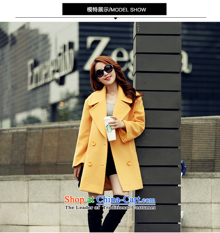 Arthur magic yi聽2015 Fall/Winter Collections new double-reverse collar coats, wool? long suit for Sau San Mao jacket female Yellow聽XL? Picture, prices, brand platters! The elections are supplied in the national character of distribution, so action, buy now enjoy more preferential! As soon as possible.