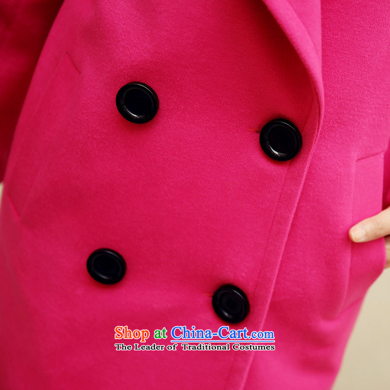 Arthur magic yi聽2015 Fall/Winter Collections new double-reverse collar coats, wool? long suit for Sau San Mao jacket female Yellow聽XL, What Arthur Magic Yi shopping on the Internet has been pressed.