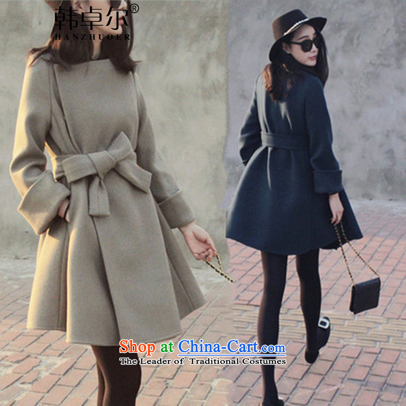 Korea's�15 autumn and winter new European site long graphics thin stylish wild coats jacket X4044? And color燬