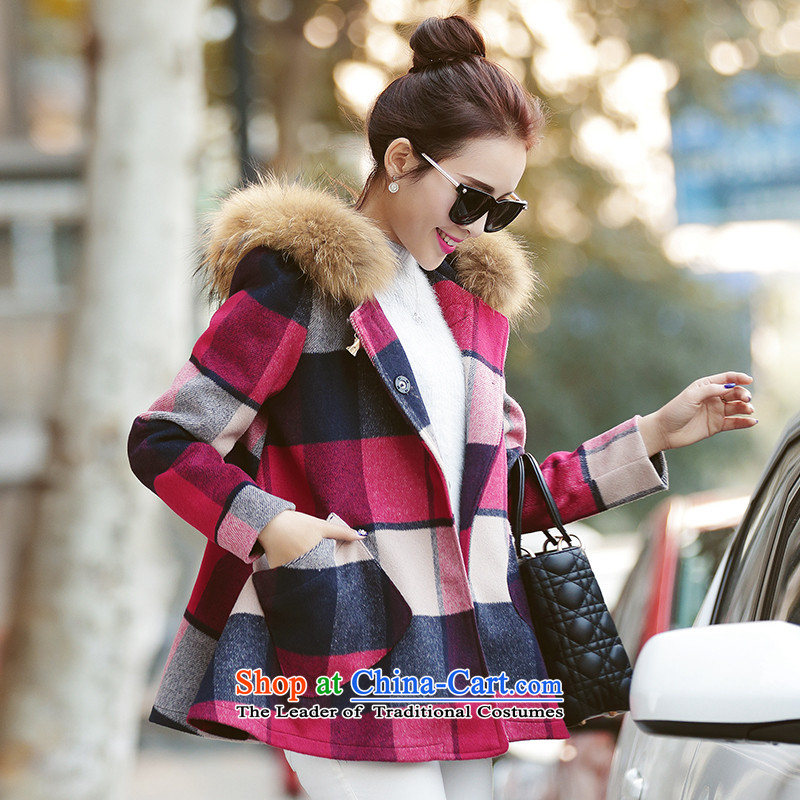 8Pak 2015 Fall_Winter Collections new Korean small incense wind relaxd Sau San Mao jacket picture color聽L?