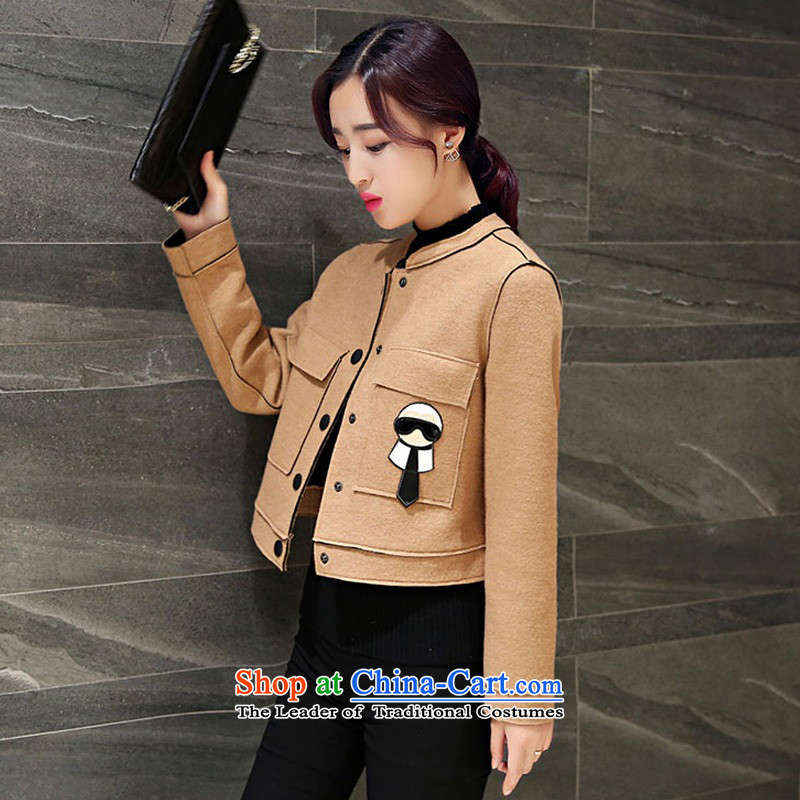 Arthur magic yi 2015 Fall/Winter Collections New Sau San? coats female gross jacket wild video thin hair short of female jacket? jacket female khaki XL