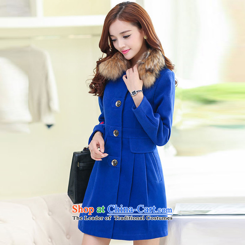8Pak 2015 autumn and winter New Sau San? Blue Coat gross燲XL