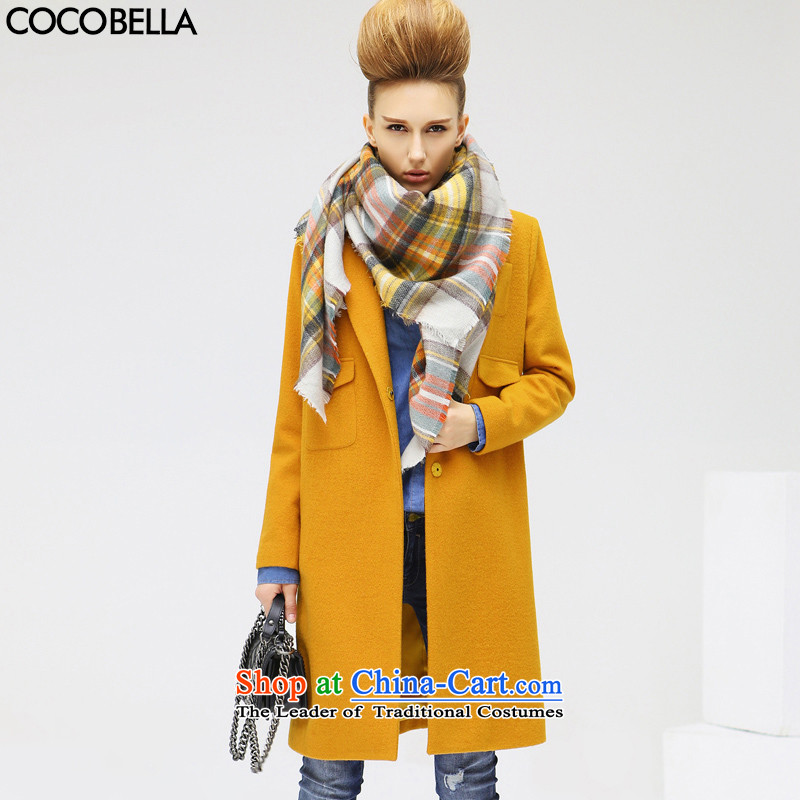 Cocobella 2015 autumn and winter in Europe and the new fan long thick coat women's gross CT312 jacket? Yiyang preservedL