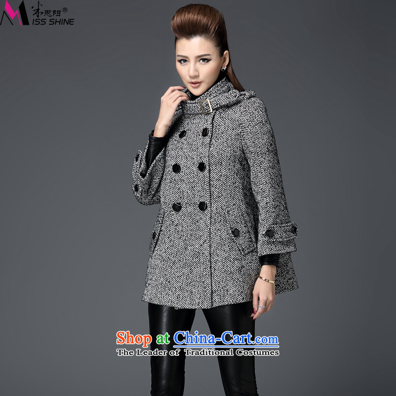 Meath Yang original western spirit Qian Long-sleeved new winter 2015 high-end double-Sau San Mao jacket? female XXXL Gray