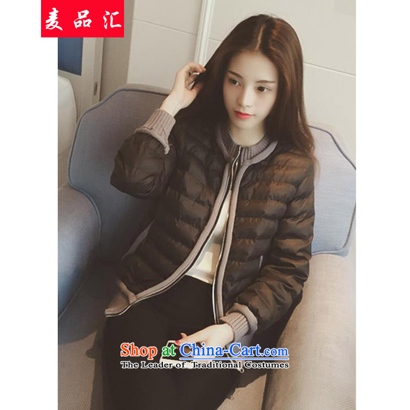 Mr Hui Korean products 2015 Fall_Winter Collections new thick sister stylish Sau San video warm short, thin small padded coats increased to female cotton coat small black jacket�L175-215 loose around 922.747