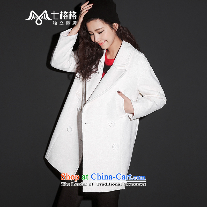 (Non-dual- 7 December2015 Princess Returning Pearl new double-jacket coat gross White M?