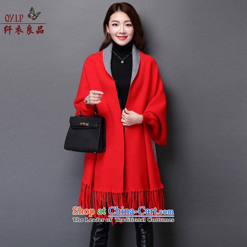The former Yugoslavia Yi goods COAT2015 Korean women's new stylish Korean Solid Color cloak shawl jacket A487 rocketed to pre-sale on 10 December of the shipment are code
