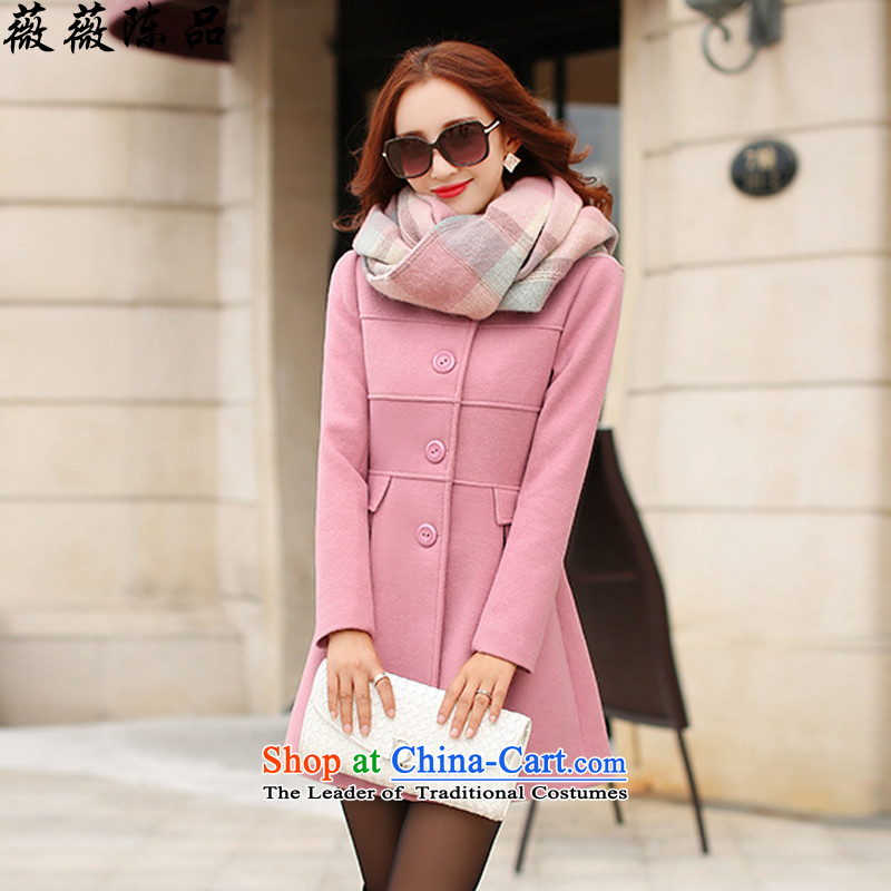 Weiwei Chan Pin autumn and winter new gross girls jacket? long hair a wool coat Korean Sau San han bum thin video women decreased from 8,135 leather toner decreased from 8,135 XL