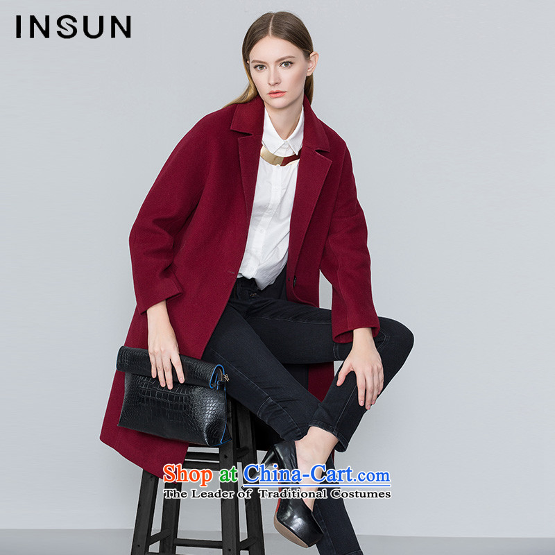 The Advisory Committee'swinter 2015 INSUN new products in wine red fashion business long coats of $95680153? female jacketwine red38