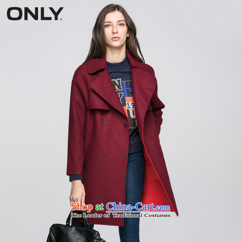 Load New autumn ONLY2015 included wool suit for coat-coats female T|11534s002 gross? Bordeaux color 165_84A_M 07A