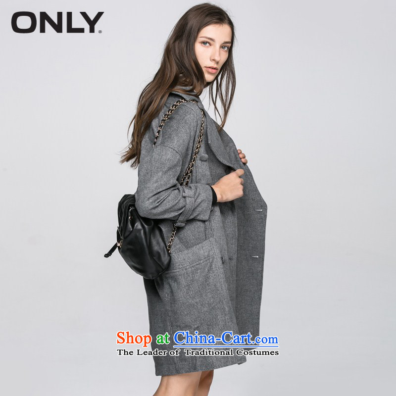 Only2016 spring new products with wool coat buttoned-decorated gross coats female E|11614s003? Spend 106 gray?165_84A_M
