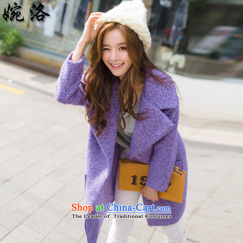 Yuen, 2015 Winter New Women Korean fashion sense of the thick solid color in the lint-free long larger gross coats NRJ7145 Sau San? picture colorM