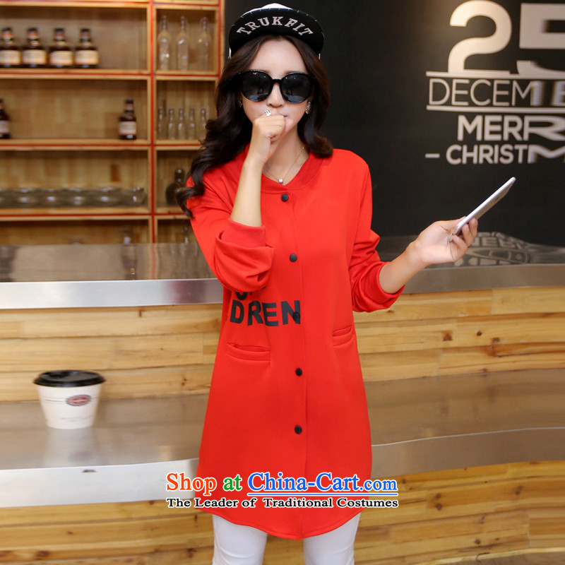 Song Of Yue XL 2015 autumn and winter the new Europe and the large number of ladies thick MM stamp Sau San Cardigan Wind Jacket Y16094XL(160_180 black), Song of Yue Jin , , , shopping on the Internet