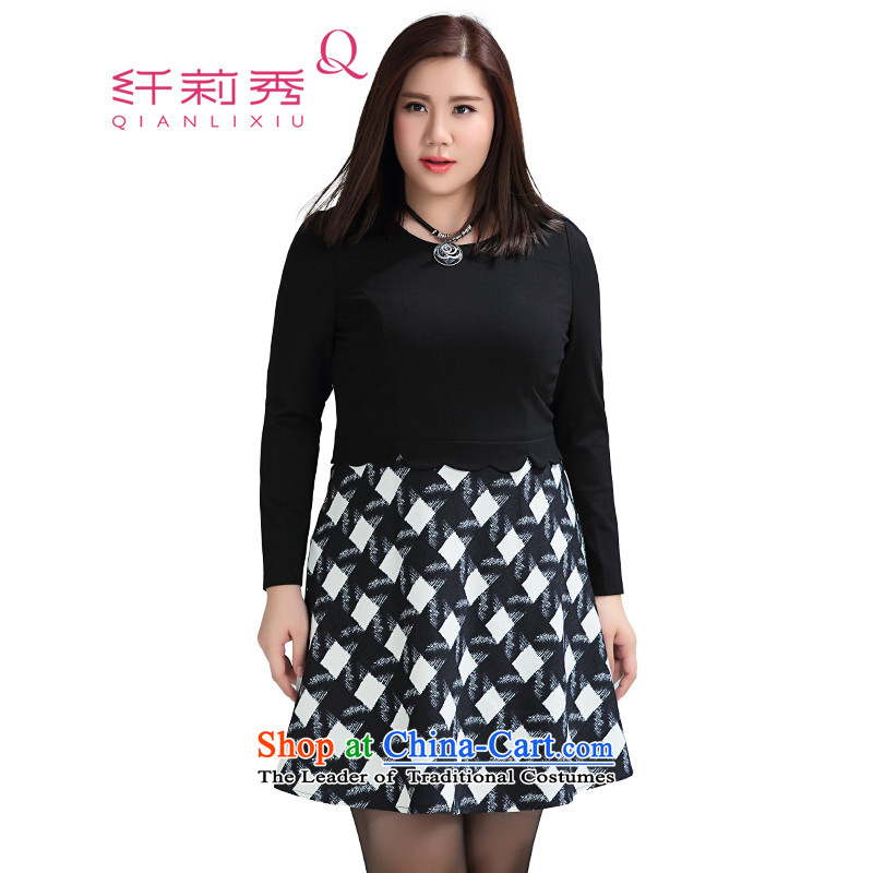 The former Yugoslavia Li Sau 2015 Fall_Winter Collections new larger female thick MM Color Plane Collision diamond plaid video thin leave two garment� 1375燾heckered燲L