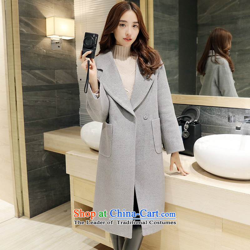 Sin has聽new winter 2015 stylish look of Sau San video thin warm relaxd trend in long lapel Korean female red cloak gross?聽M sin has shopping on the Internet has been pressed.