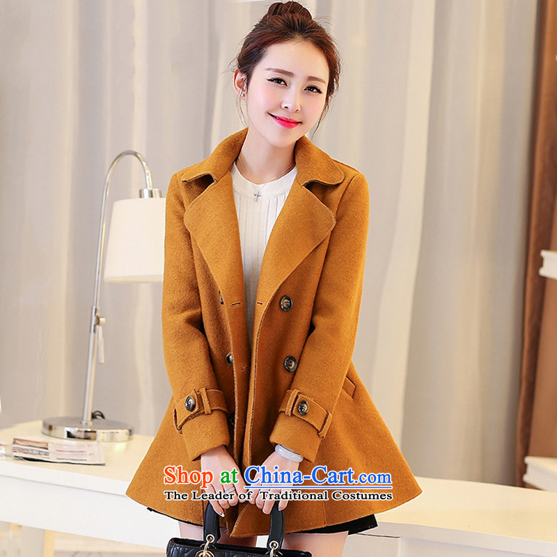 8D large park in long-sleeved cloak long thick coat and a color燣