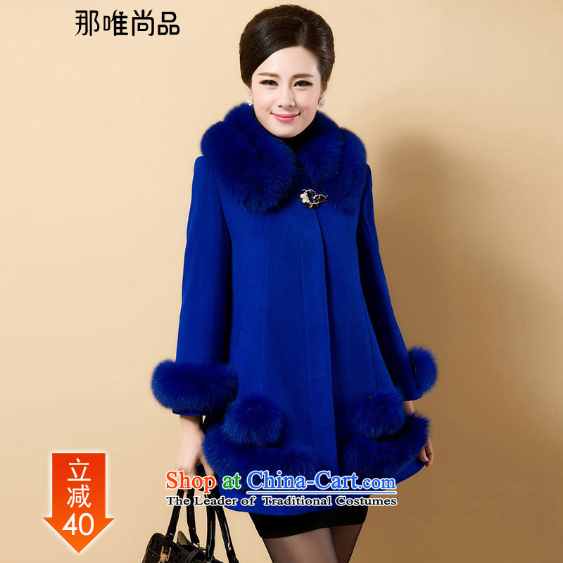 The CD is still in the autumn and winter coats of new products? What wool velvet cloak with exquisite soft and comfortable 286 emulation gross for can be shirked 5XL Royal Blue
