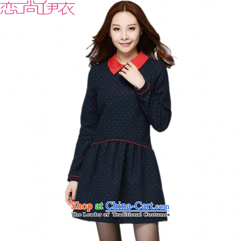 C.o.d. XL 2015 New Fall_Winter Collections Preppy thick sister wave point video thin a long-sleeved baby for a field so gross dresses to dark blue�L燼pproximately around 170-190 microseconds catty