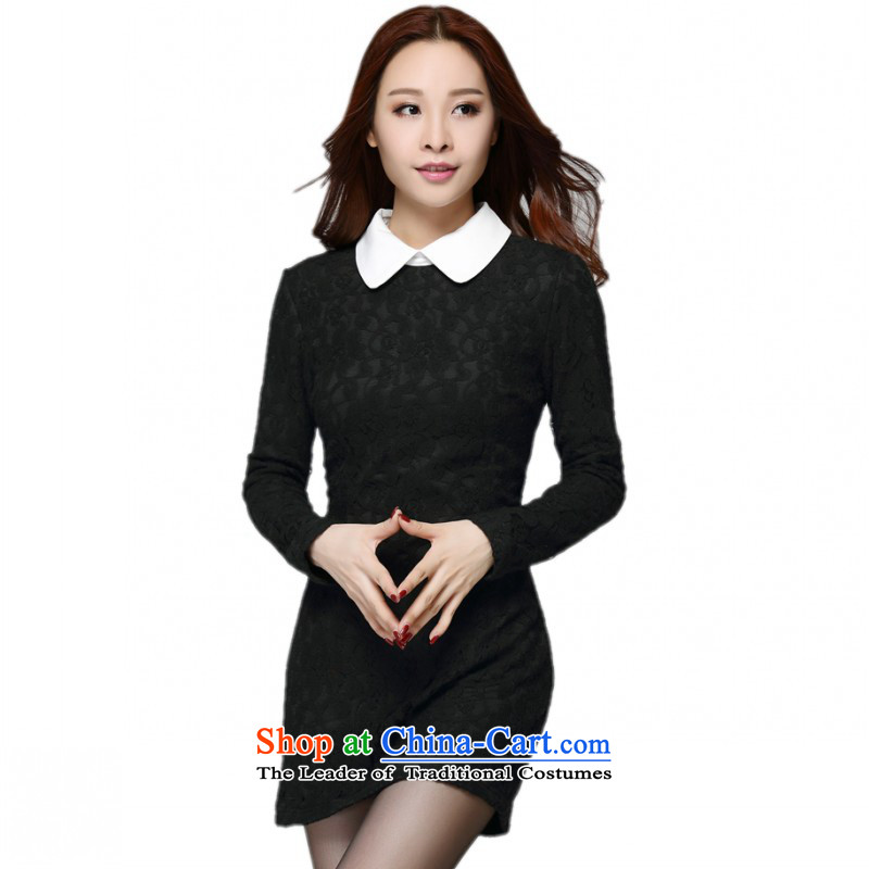 Payment on delivery to female new Korean skirt video large thin lace knocked color for long, doll plus lint-free, forming the thick dresses and black skirt Sau San package�L燼pproximately around 170-190 microseconds catty