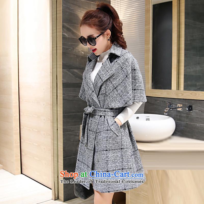 Sin has爊ew winter 2015 stylish temperament video thin Korea Sau San edition in warm longer tether cloak? coats female pale gross.�    M