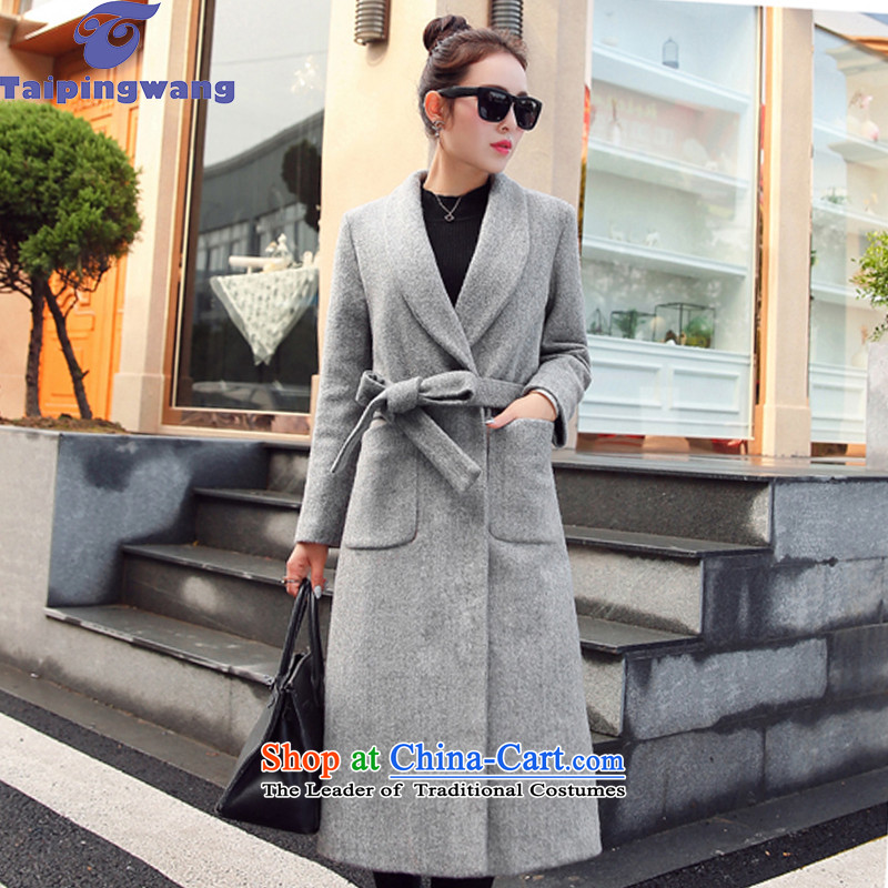 The autumn 2015 new taipingwang Sau San double-jacket coat? female gross 588 silver燤
