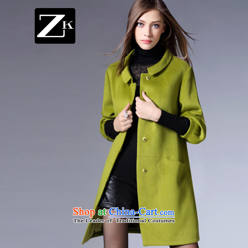 Zk Western women�15 Fall_Winter Collections New 7 cuff gross foreign women in sleeve? Long Sau San dolls for a wool coat green燤