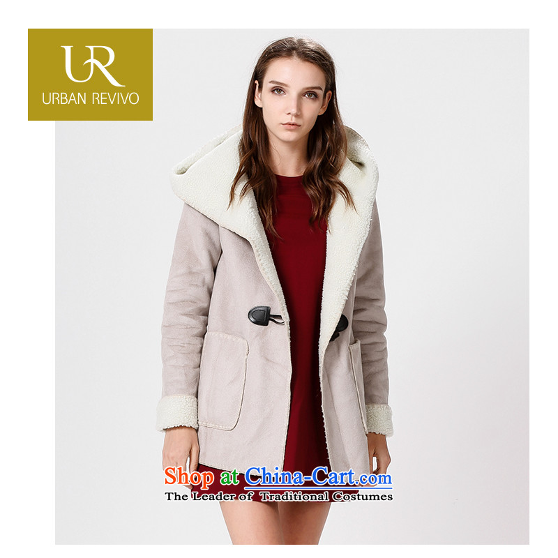 Ur youth casual women with new products horns deduction winter coats jacket YL14D52S1GE002 thick gray M