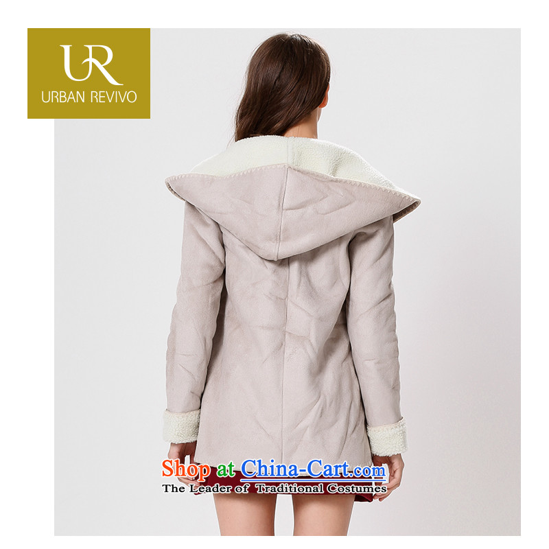Ur youth casual women with new products horns deduction winter coats jacket YL14D52S1GE002 thick gray M,ur,,, shopping on the Internet