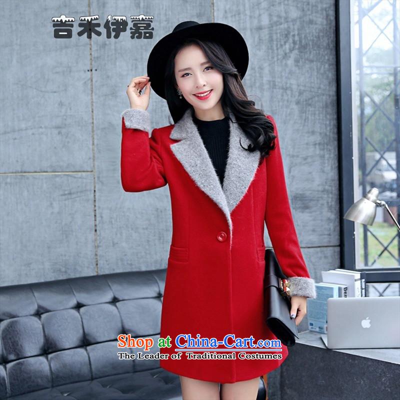 Gil Wo Ika 2015 winter new stylish warm clothing to dress?JLFSA18- Li Taobao, Orange?XL