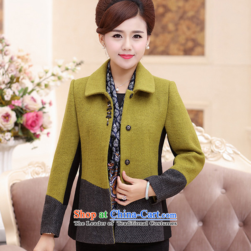 The Champs Elysees in older women's consumer MOM pack autumn and winter coats women with gross? jacket green聽XXL