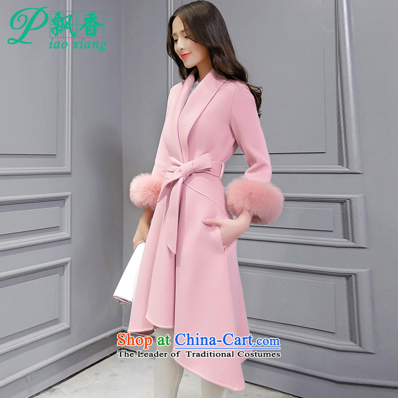 Scented Winter 2015 new urban elegance with a solid color Sau San Mao jacket V1798? pink燤