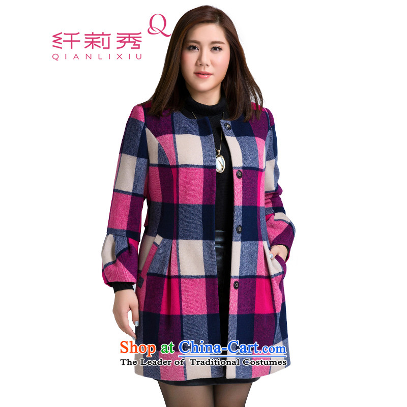 The former Yugoslavia Li Sau 2015 Fall_Winter Collections of new large MM thick female knocked color Large Plaid Foutune of gross female jacket coat? 1550 better on a red ground Haig�L