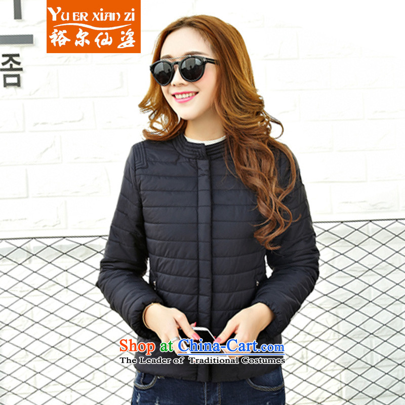Yu-Sin-thick sister to increase women's code 2015 autumn and winter new mm thick Korean Ms. cotton short of Sau San thin downcoat 8129 Black�L爎ecommends that you 160-180 catty
