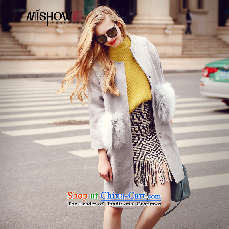 Use Show�15 autumn and winter in the thick of the new long ladies hair so Sau San Jacket coat female gray燤
