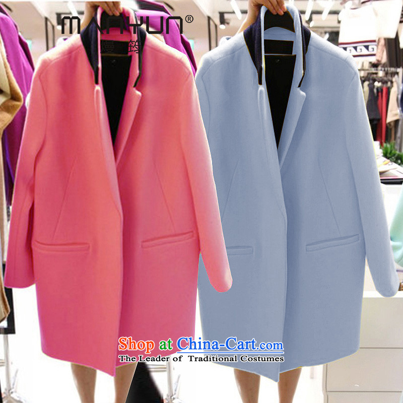 The 2015 autumn and winter Ms. new Korean thick duplex?? long coats Gross Gross coats of female Red?燤