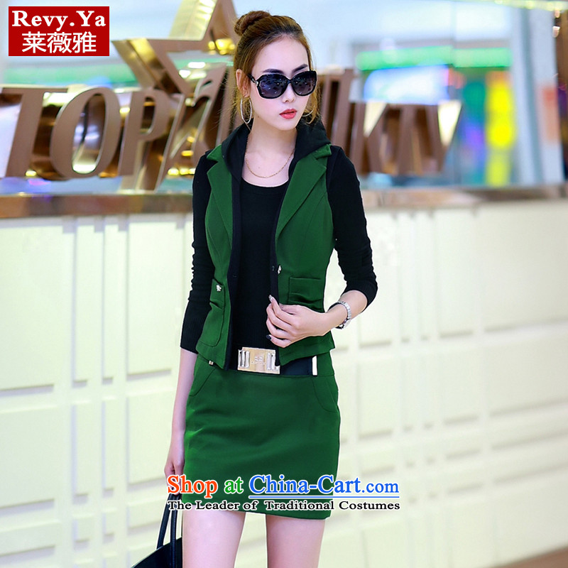 Tony Blair,2015 autumn and winter new Korean Lifestyle bags and small business suit kits greenM