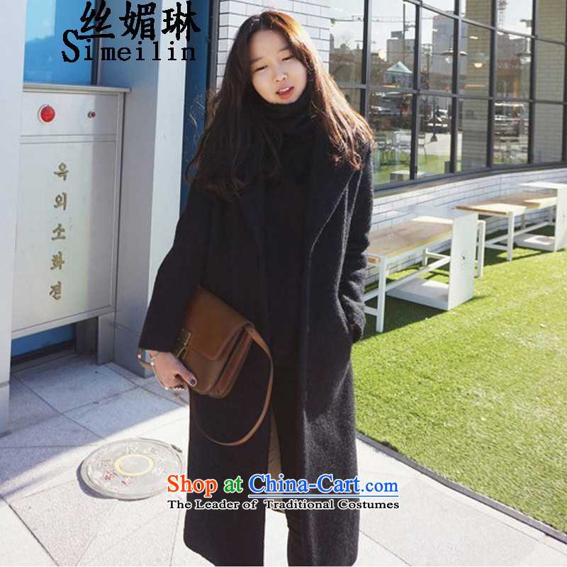 The population of New Winter 2015 Lin thickened the cotton jacket girl in gross? Long bold Wool tweed jacket in a wool coat large black plus cotton waffle M