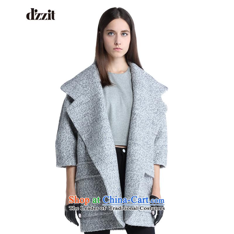 In winter, of d'zzit large lapel 7 cuff woolen coat354G282155XS Light Gray